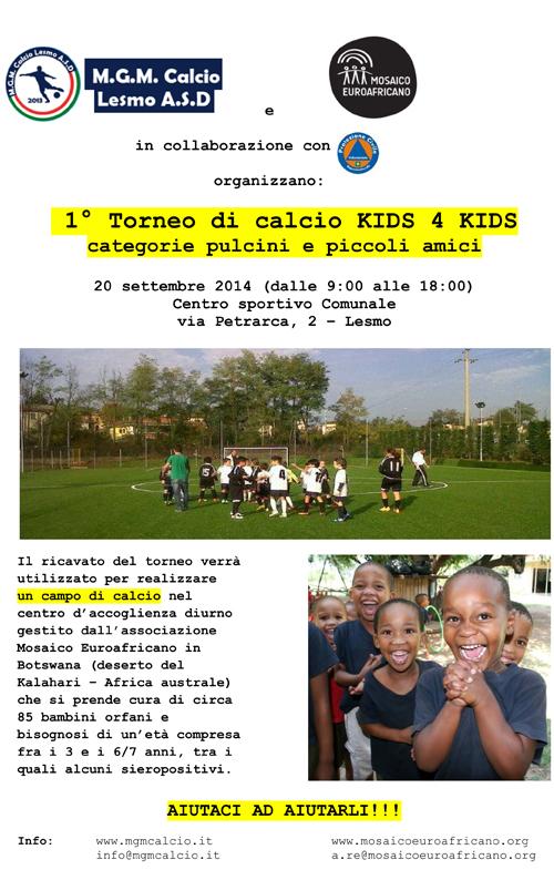 1° Torneo di calcio KIDS 4 KIDS piccola